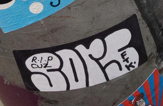 sticker Sors rip cuz ftk Amsterdam 2013