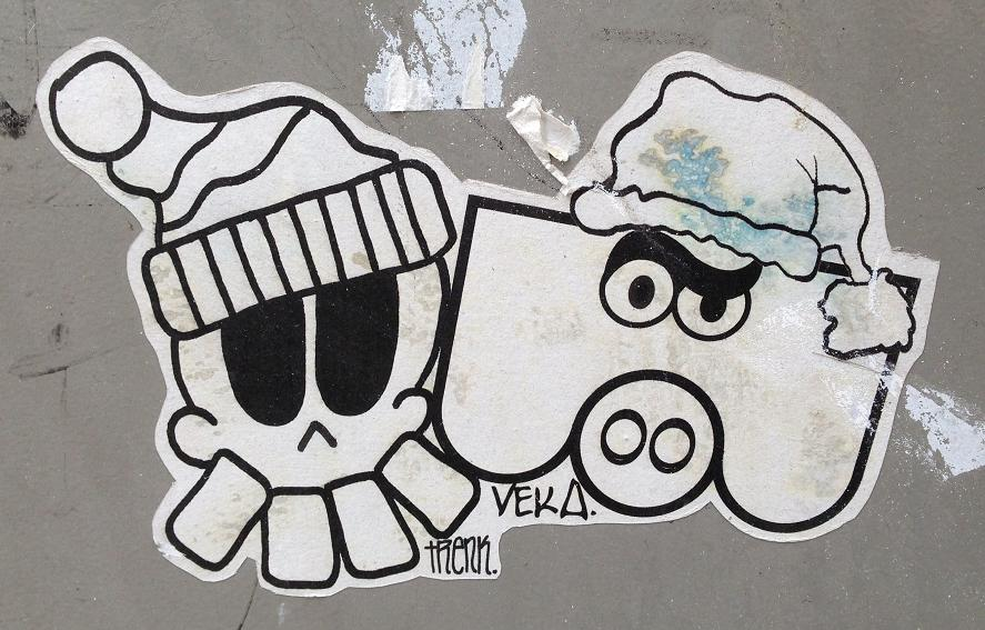 sticker Trenk Veka Vek collab Amsterdam 2013