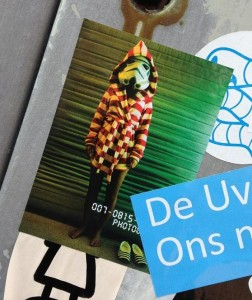 sticker Tzar Wars Amsterdam bij Spui 2013