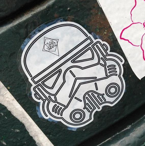 sticker Tzar Warz Amsterdam 2013 Star Wars trooper