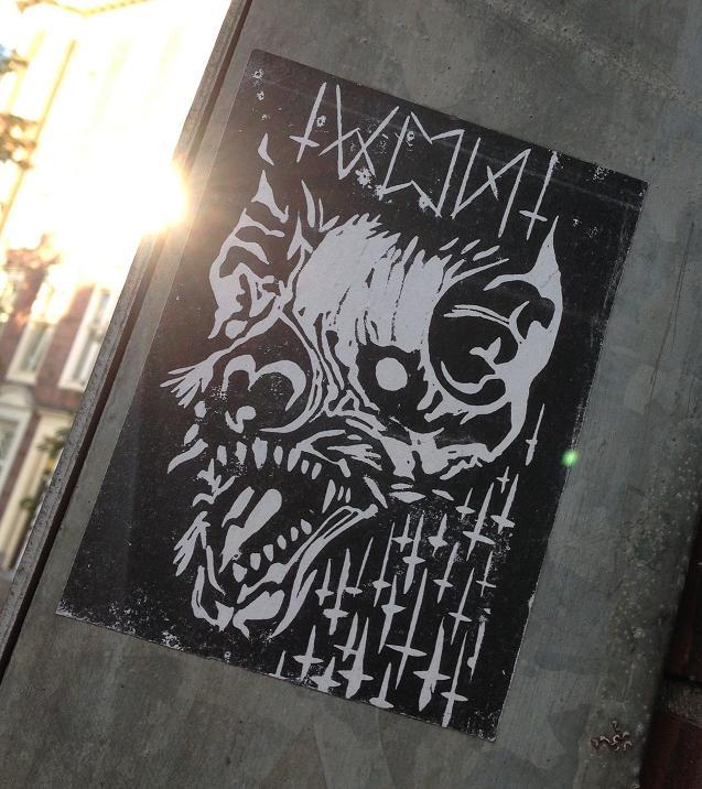 sticker Von Hyena Amsterdam Center July 2013