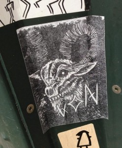 sticker Von Satan cross goat Amsterdam 2013 geit