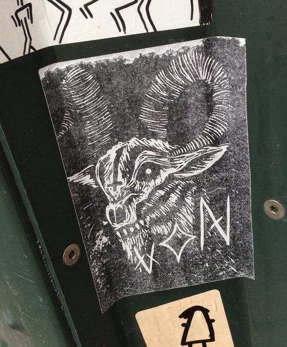 sticker Von Satan cross goat Amsterdam 2013 geit