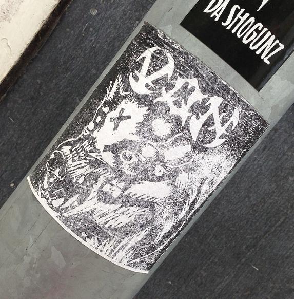 sticker Von aggressive dog Amsterdam 2013