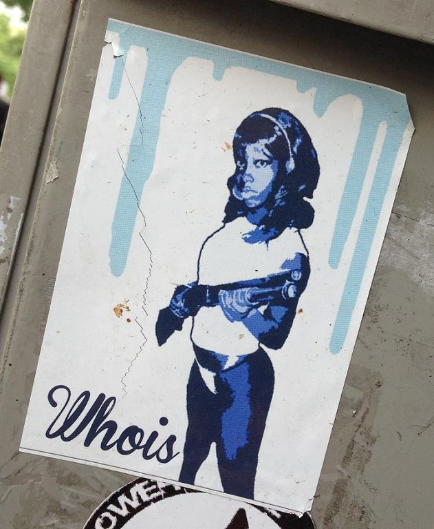 sticker Whois dark girl shotgun Amsterdam 2013