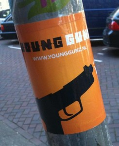 sticker Young Gunz Amsterdam 2012