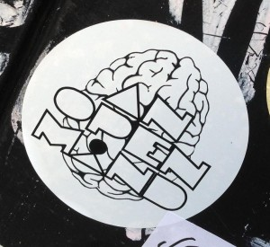 sticker an open mind Amsterdam Centrum 2013
