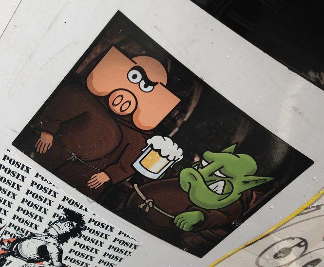 sticker collab Reus Veka Vek Amsterdam 2013