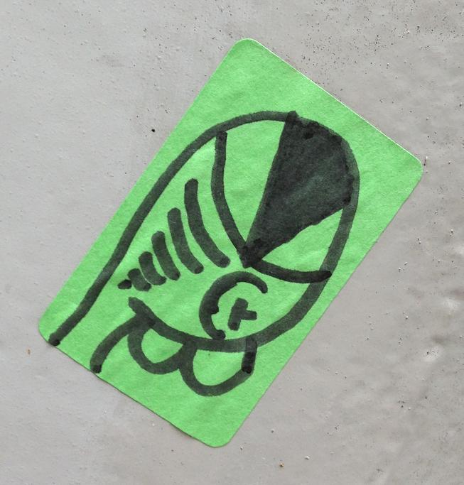 sticker eenoog street-art Amsterdam Apollolaan 2013