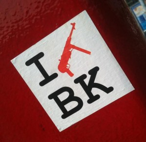 sticker i machinegun BK Amsterdam 2012