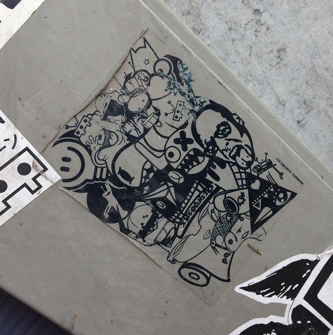 sticker incognito Nijmegen 2011 Amsterdam 2013