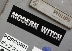 sticker modern witch Amsterdam 2013