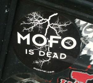 sticker mofo is dead Amsterdam