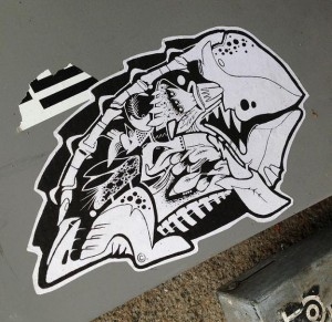 sticker monster reptile skeleton Amsterdam 2013 reptiel