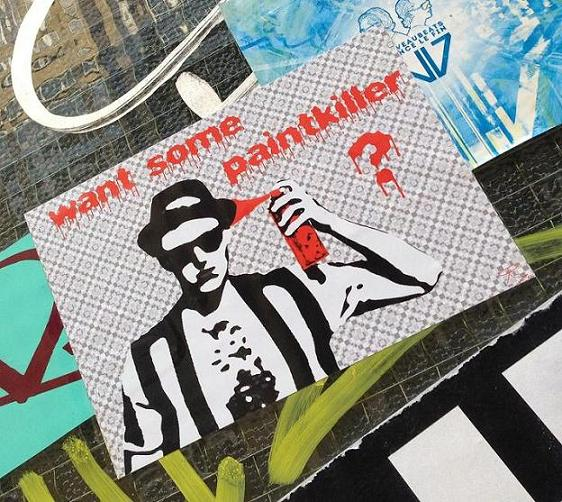 sticker want some paintkiller Amsterdam August 2013