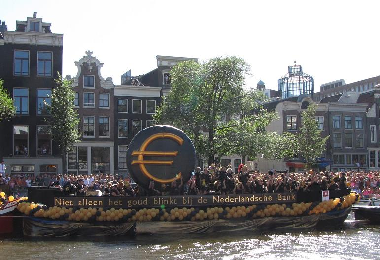 Gay-parade Amsterdam 2013 DNB goud