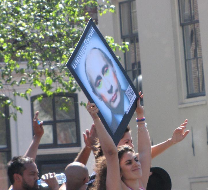 Vladimir Putin at Gay-parade Amsterdam 2013