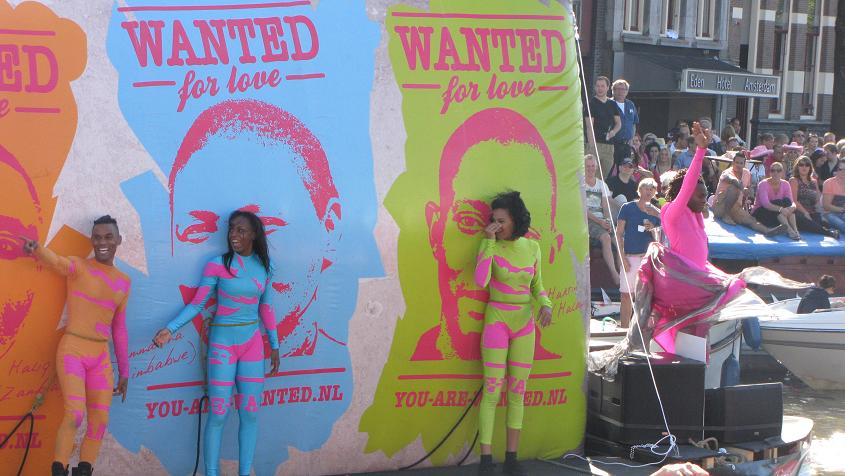 Wanted for love Gay-parade Amsterdam 2013