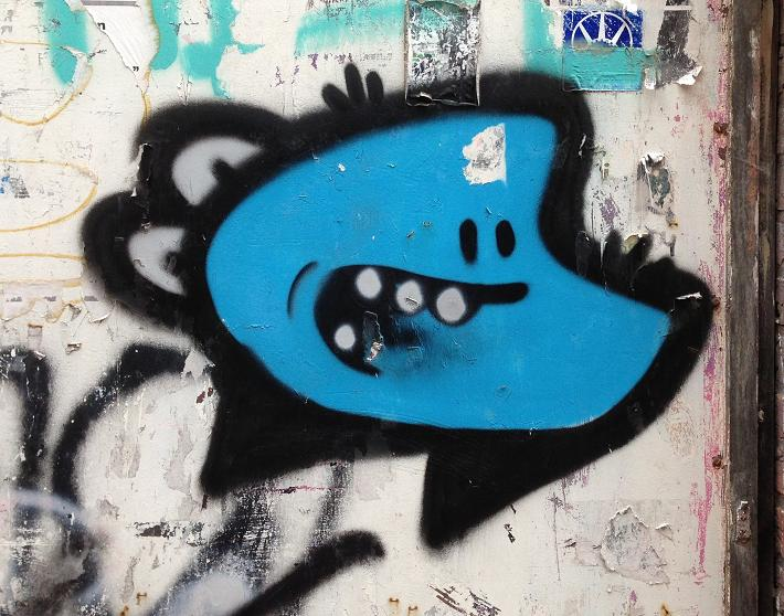 graffiti Oo Minus Middelburg juli 2013 blue bee