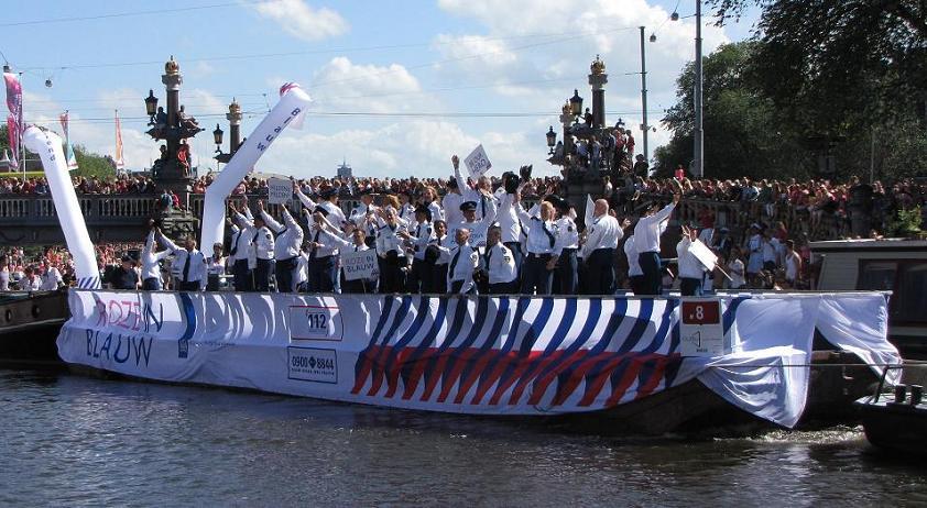 police pride Gay-parade Amsterdam 2013