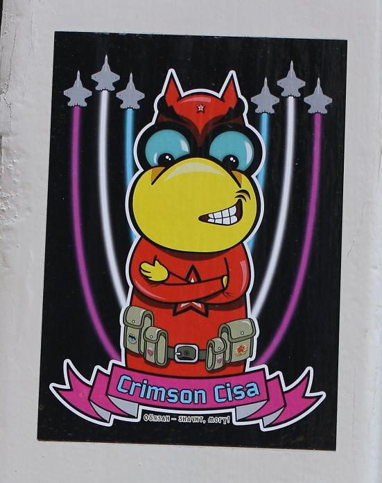 sticker Crimson Cisa Amsterdam 2013 July photo Maarten Brante jets