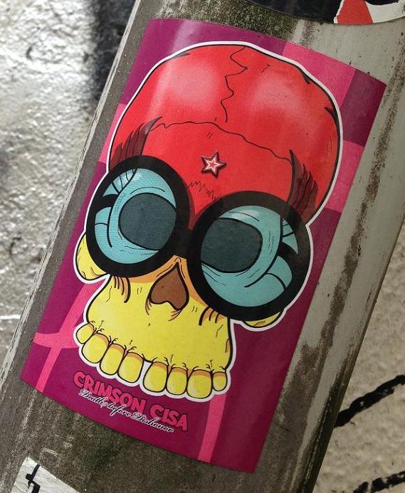 sticker Crimson Cisa Amsterdam 2013 death dishonor
