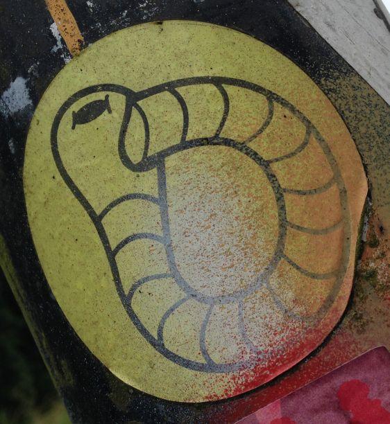 sticker Earworm Amsterdam Amsterdamse Brug 2014 Juni