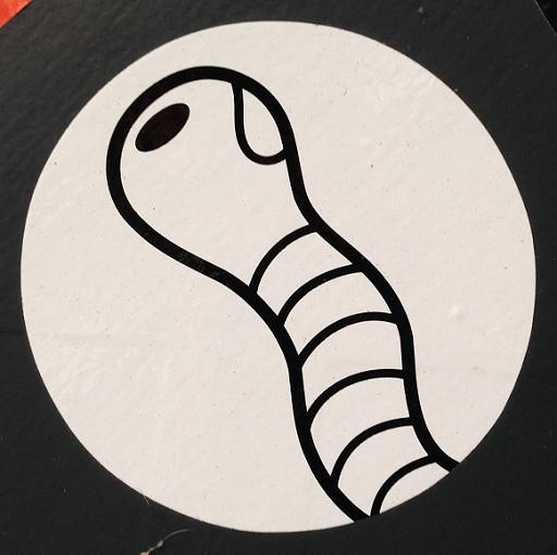 sticker Earworm Utrecht center 2013 September