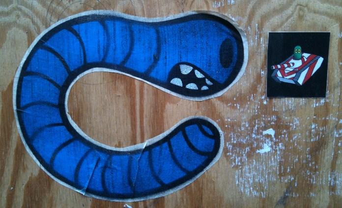 sticker Earworm vs Krokotank Amsterdam 2012