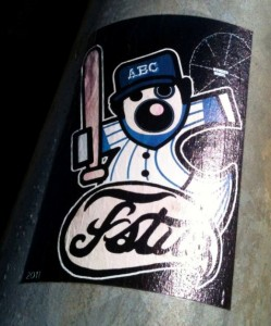 sticker Fatuo abc baseball-bat Amsterdam 2011