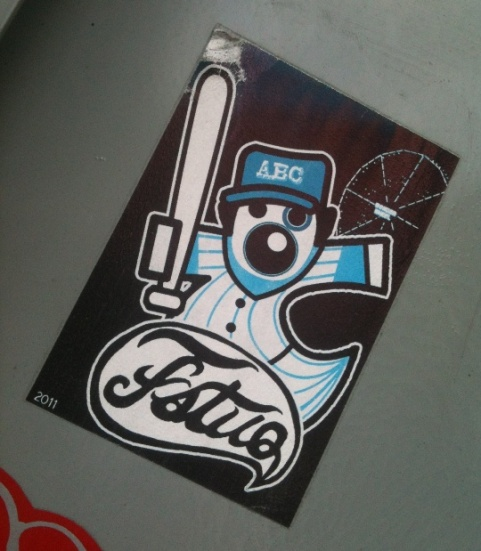 sticker Fatuo abc baseball-bat Amsterdam 2012
