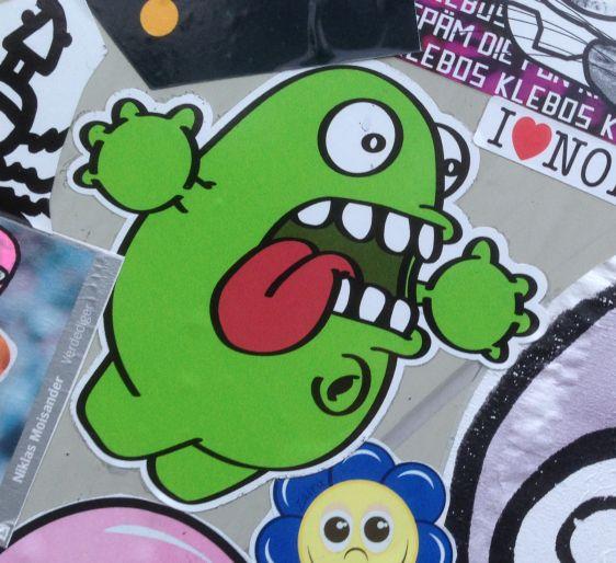 sticker Nol-art Amsterdam East 2015 Januari creature