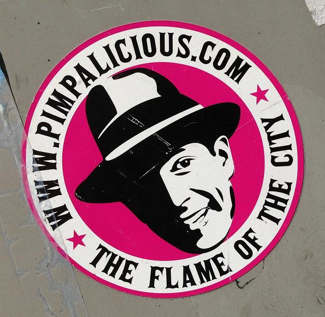 sticker Pimpalicious flame of the city Amsterdam August 2013