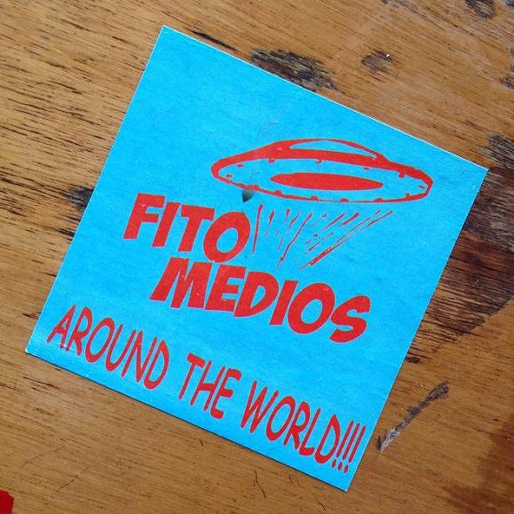 sticker fito medios Amsterdam center August 2013