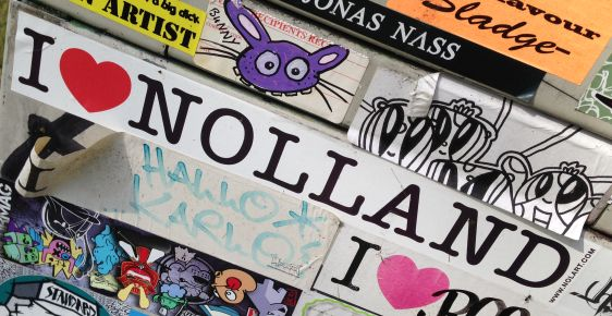 sticker i love Nolland Amsterdam east 2014 April Nol
