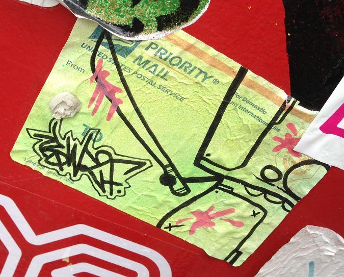 sticker machete blood Amsterdam center September 2013 kapmes