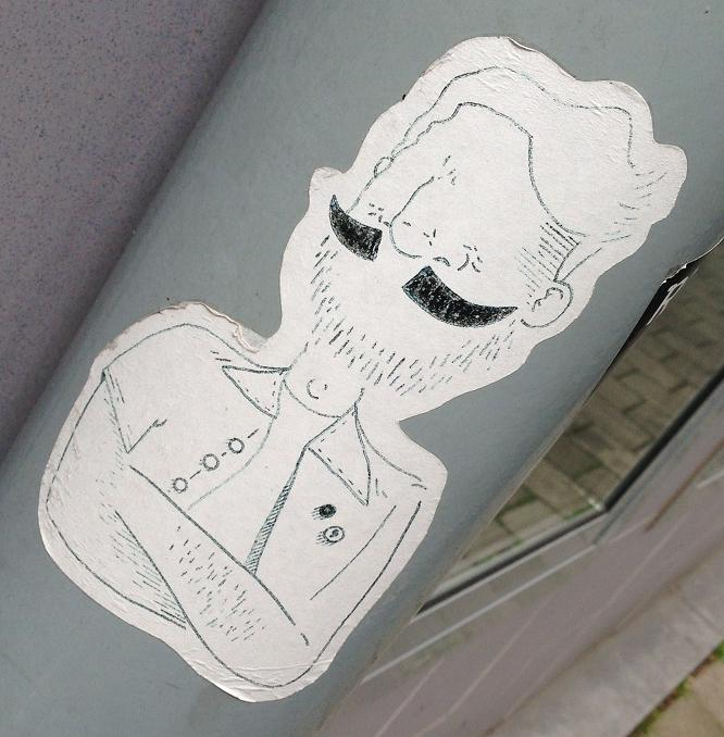 sticker moustache  man snor Amsterdam