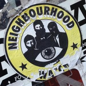 sticker neighbourhood watch Amsterdam center 2013 August