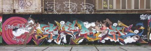 Bugs Bunny graffiti Amsterdam North 2013 September that's all folks