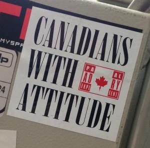 Canadians attitude sticker Amsterdam North 2013 September