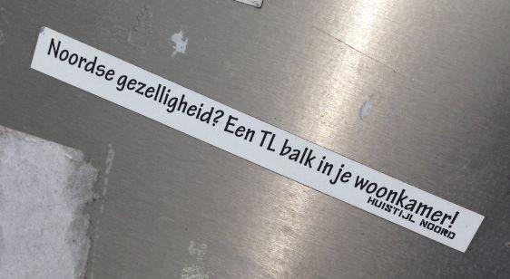 Huisstijl Noord sticker 2014 June Amsterdam North NDSM Noordse gezelligheid tl-balk