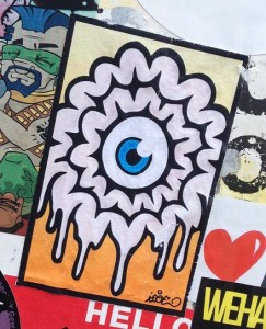 Isoe sticker brain eye Amsterdam North 2013 September brein oog ndsm