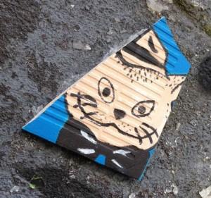 Tile El Gato 2014 Amsterdam cat tegel kat poes hoed street art