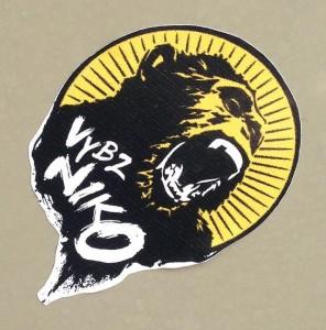 VYBZ Niko sticker Amsterdam center 2013 September chimpanzee
