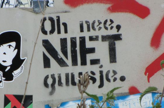 graffiti Huisstijl Noord Amsterdam NDSM 2014 May oh nee niet Guusje