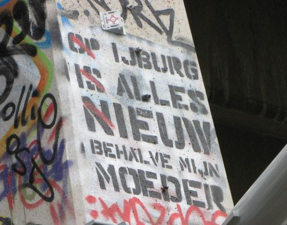 graffiti Huisstijl Noord Amsterdamse Brug Amsterdam 2014 May ijburg moeder