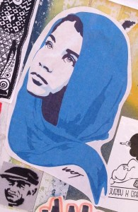 islamic scarf sticker  veil hijab shayla Amsterdam North 2013 September hoofddoek