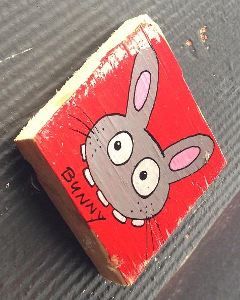 plank Bunny Brigade red Amsterdam center 2013 September rood hout