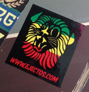 sticker Amsterdam center August 2013 Ejectos Rasta lion