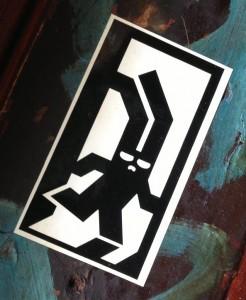 sticker BunBun Amsterdam Spui 2013 August rabbit